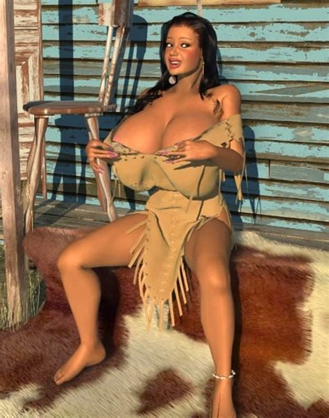 Big Breasted 3d American Indian Babe Posing Outdoors Pichunter
