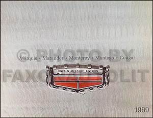 1969 Mercury Cougar Chassis Assembly Manual Reprint