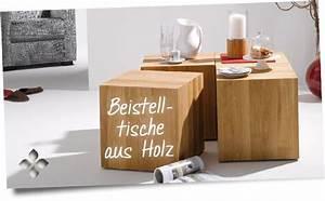 Beistelltische Holz : beistelltische aus holz online kaufen bei holzdesignpur ~ Pilothousefishingboats.com Haus und Dekorationen