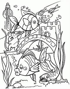 Marine Fish Coloring Pages Kleurplaat Kleurplaat