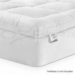 bamboo fibre pillowtop mattress topper 1000gsm all size With all in one pillow protector