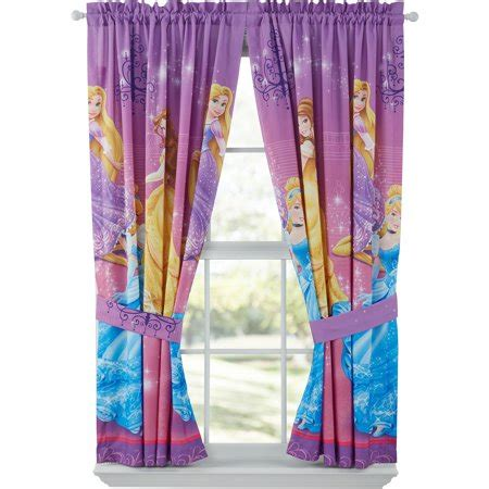 disney princess curtains disney grand princesses bedroom curtains walmart