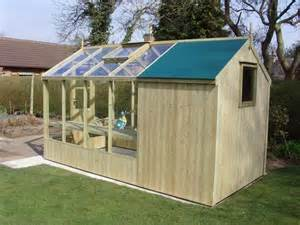 combination greenhouse shed 4 w garden