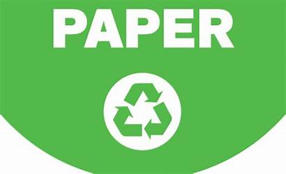Recycling Paper Bin Recyclable Poster Materials Sign