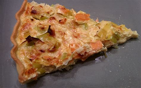 recette de cuisine simple et facile tarte aux poireaux et au saumon fumé mon menu de la semaine