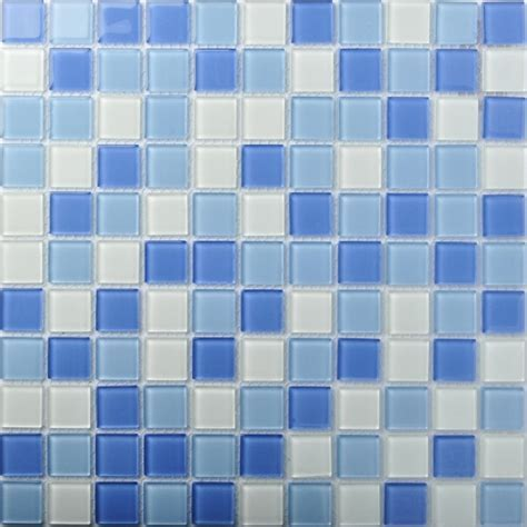 TST Crystal Glass Tiles Blue Glass Mosaic Tile Sea Glass