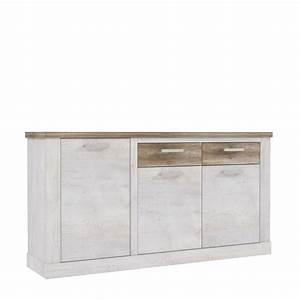 Sideboard Weiß Antik : sideboard 3 trg duro von forte pinia wei eiche antik ~ Orissabook.com Haus und Dekorationen