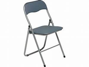 Table Chaise Conforama : chaise pliante alizee ii coloris gris chez conforama ~ Teatrodelosmanantiales.com Idées de Décoration