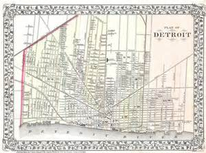 City Street Map Detroit Michigan