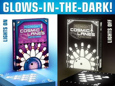 glow   dark playing cards cosmic lanes deck  randy