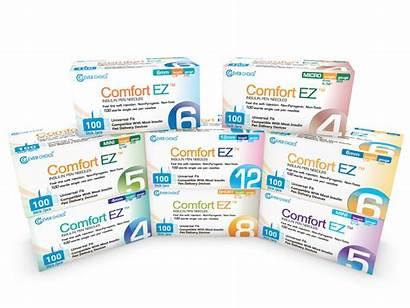 Pen Needles Insulin Comfort Ez Syringes Comfortable
