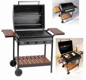 Barbecue Gaz Avec Plancha Et Grill : cuisine exterieure barbecue gaz ~ Melissatoandfro.com Idées de Décoration