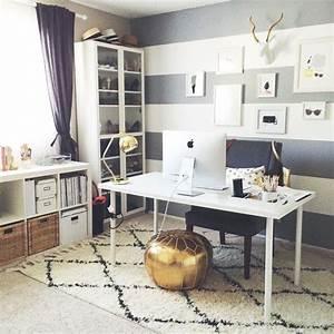Wand Schreibtisch Ikea : arbeitsplatz ikea schreibtisch und expedit grau wei e ~ Lizthompson.info Haus und Dekorationen