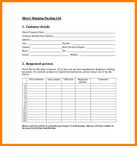 packing checklist template ledger review