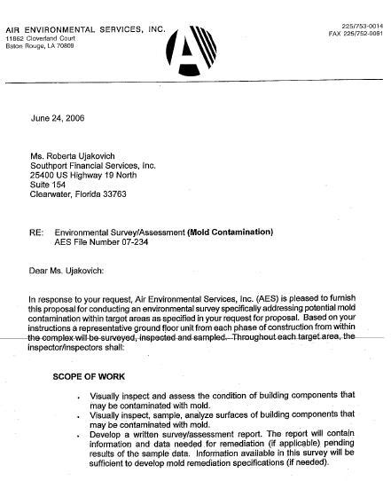 time resident director cover letter request for mold inspection letter katy s exposure