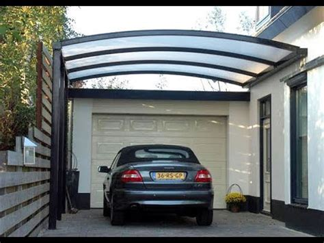 desain kanopi garasi mobil rumah minimalis youtube