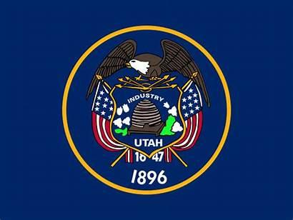 Utah Flag State Usa American Becomes Ut