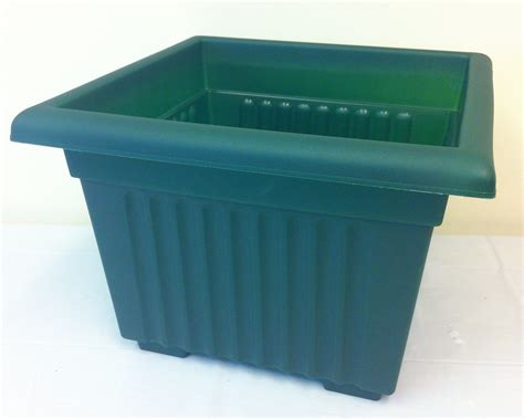 Square Plant Pots by Square Green Plant Pot 35cm X 26cm Indoor Or Outdoor