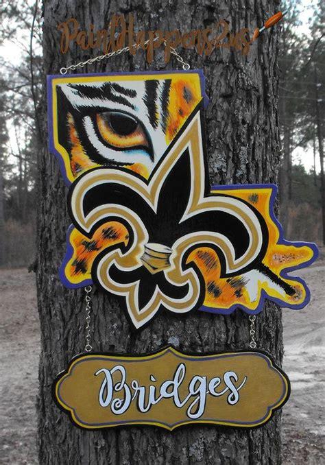 louisiana door hanger lsu geaux tigers lsu logo