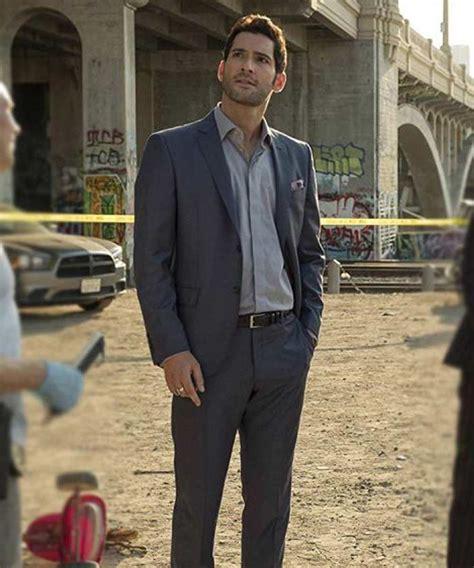 Tom Ellis Wool Blend Lucifer Morningstar Grey Suit