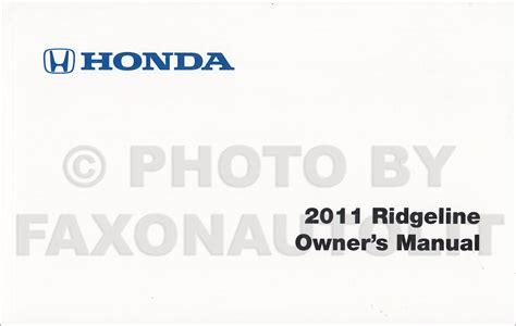 auto repair manual online 2011 honda ridgeline engine control 2009 2011 honda ridgeline repair shop manual original set