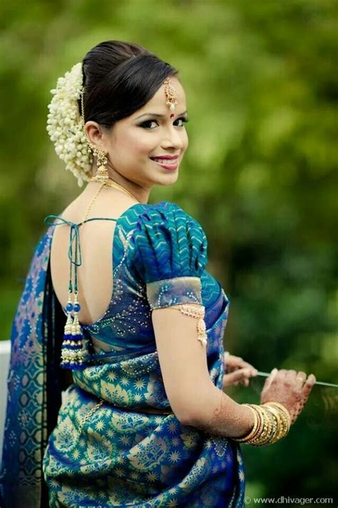 traditional indian wedding hairstyles blouse  neck