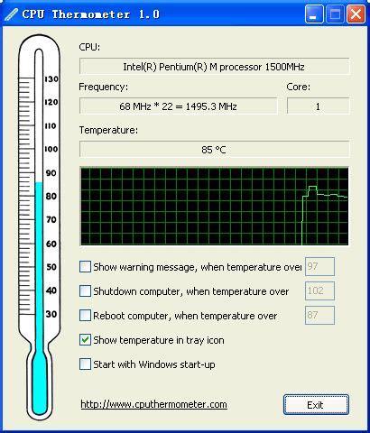 cpu thermometer    freewarefilescom