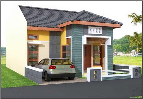 desain rumah  rumah minimalis cat hijau images