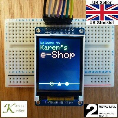 1 8 inch st7735 128x160 spi colour tft display module arduino raspberry pi eur 12