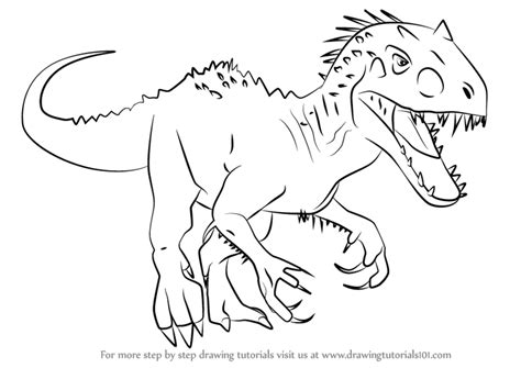 Indominus Kleurplaat by Lego Indominus Rex Coloring Pages Sketch Coloring Page