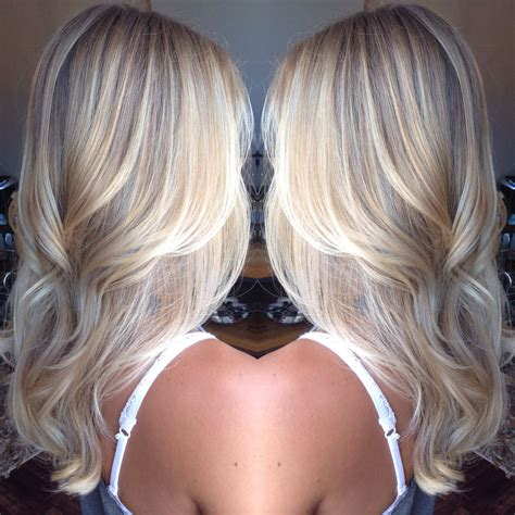 Platinum Blonde Balayage Hair Style Perfect For Long Or