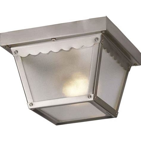 volume lighting 1 light brushed nickel outdoor ceiling