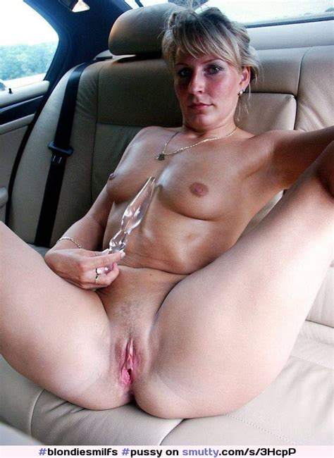 Pussy Dildo Spread Milf Wife Car Hot Masturbate