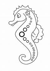 Coloring Seahorse Printable Sea Cartoon Line Horse Dotted Patern Mosaic Animals Drawing Lovely Colouring Seahorses Sheets Animal Drawings Everfreecoloring Creatures sketch template