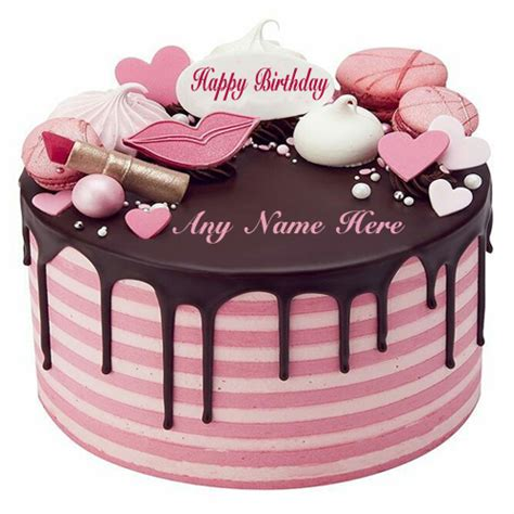 write   lovely beautiful pink birthday cake   special