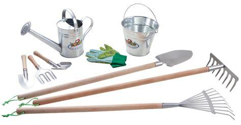 jouet cuisine bois kit 9 outils de jardinage pour enfant zinc