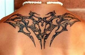 Cool Rest In Peace Tribal Style Back Tattoo Pictures ...