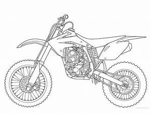 dirt bike coloring pages coloringsuitecom With honda 125 dirt bike