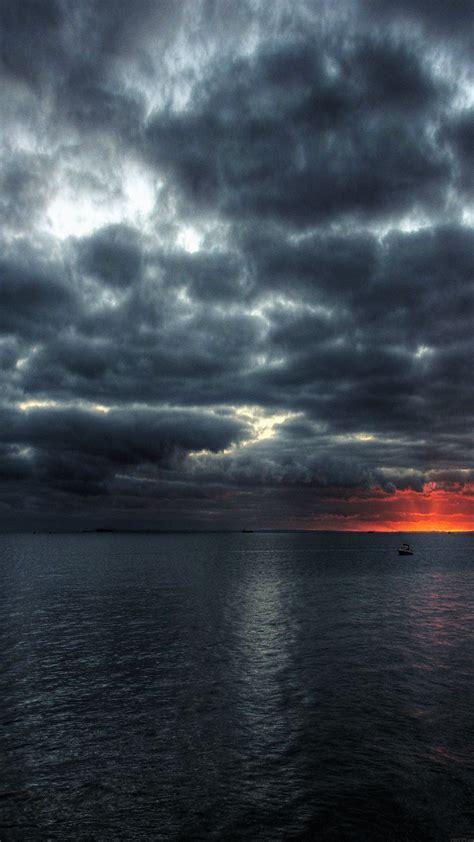 mc wallpaper dark sea storm night ocean papersco