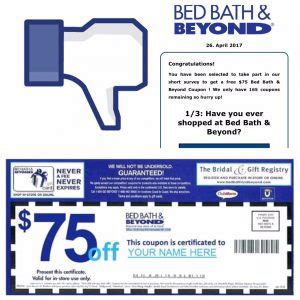 Bed Bath Beyond Ta Fl by Bed Bath Beyond 75 Coupon Offer On Is A Hoax