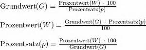Prozentwert Berechnen Formel : prozentrechnung grundlagen und vertiefung studyhelp ~ Themetempest.com Abrechnung
