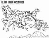 Coloring Fire Elijah Chariot Bible Elisha Pages Printable Story Chariots Christian Sheets Heaven Sunday Crafts Resources Today Fiery Stories Goes sketch template