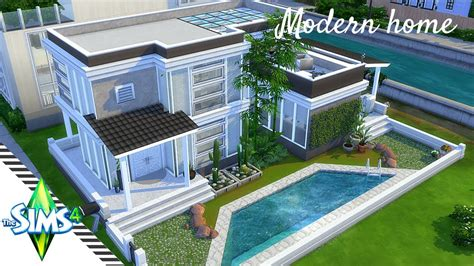 sims  speed build modern  bedroom house plan