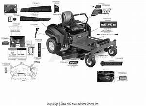 Troy Bilt 17arcacq011 Mustang Xp 50  2017  Parts Diagram