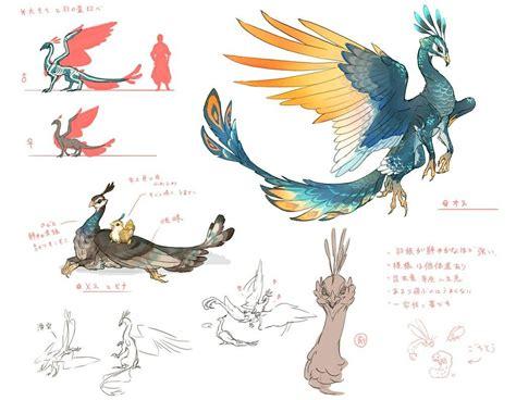 pin  nathanael  creature bird fantasy creatures