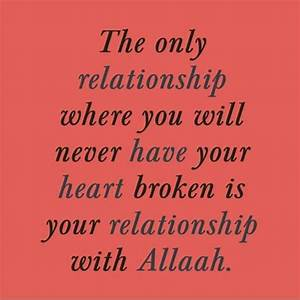 The only relationship where your heart won't be broken is ...