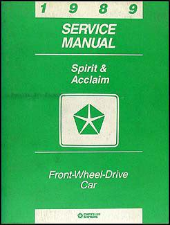 service repair manual free download 1993 plymouth acclaim navigation system 1989 dodge spirit plymouth acclaim repair shop manual original
