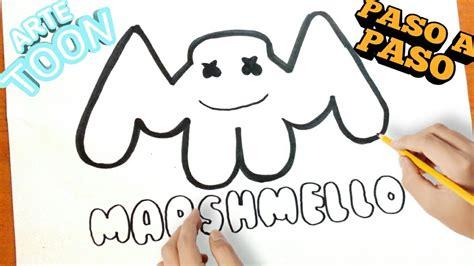 Como dibujar el logo de marshmello paso a paso how to