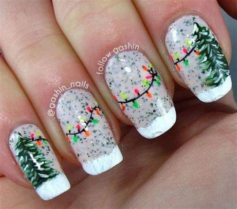 christmas lights nail art designs ideas  xmas