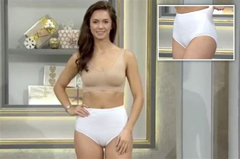 qvc underwear ad  viral  stunning model suffers